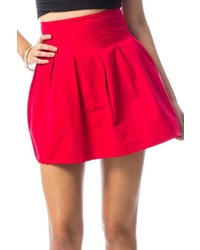 Pattys Closet Red Pleated Skirt