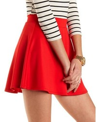 Charlotte Russe Solid High Waisted Skater Skirt | Where to buy ...