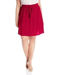 Star vixen plus size knee length full skater skirt with self tie bow belt medium 3663224