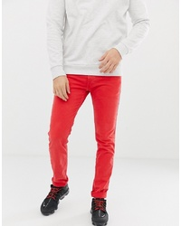 Replay Anbass Stretch Slim Jeans In Red