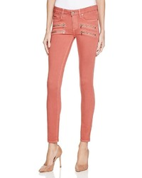 Paige Denim Transcend Edgemont Skinny Jeans In Red Clay