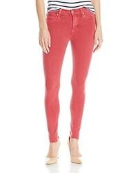 Hudson Nico Midrise Ankle Raw Hem Super Skinny 5 Pocket Jeans