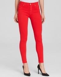 Hudson Jeans Barbara Ankle In Larkspur Red