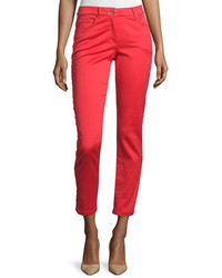 Low rise skinny cropped jeans red poppy medium 654743
