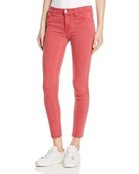Hudson Nico Raw Hem Ankle Jeans In Red Stone
