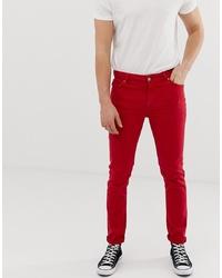 ASOS DESIGN Skinny Jeans In Red