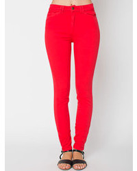 American Apparel Four Way Stretch High Waist Side Zipper Pant