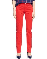 Brooks Brothers Natalie Fit Five Pocket Cotton Pants