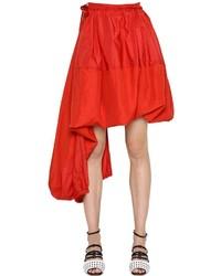 Sportmax Asymmetrical Viscose Linen Skirt