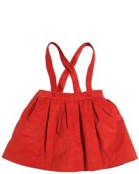 Burberry Cotton Corduroy Skirt W Suspenders