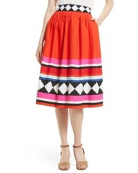 Kate Spade New York Cotton Poplin Midi Skirt
