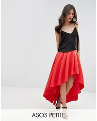 Asos Petite Petite Premium Scuba High Low Prom Skirt