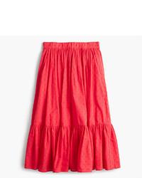 J.Crew Tall Clip Dot Tiered Skirt