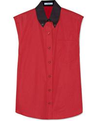 Prada Two Tone Cotton Poplin Shirt