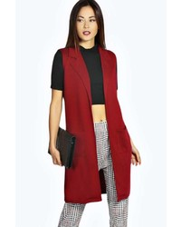 Red Sleeveless Coat