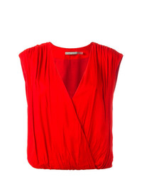 Alice + Olivia Aliceolivia Sleeveless Wrap Top