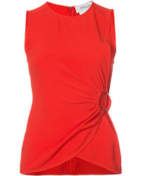 Derek Lam 10 Crosby Ruched Sleeveless Top