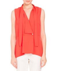 Tie neck sleeveless wrap top medium 4156767
