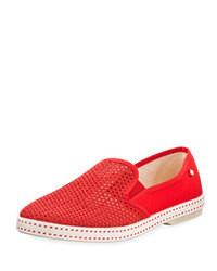 Red Slip-on Sneakers