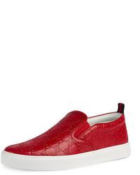 Gucci Dublin Signature Leather Slip On Sneaker