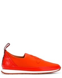 Vivienne Westwood Red Leather Slip On Sneakers