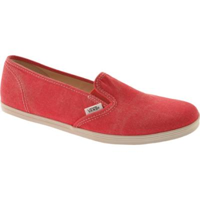 cba61413c3c5 ... Vans Washed Slip On Lo Pro Red Canvas Shoes