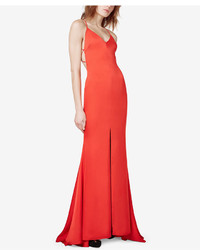 Fame and partners strappy back fishtail slit gown medium 1351958