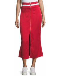Maggie Marilyn Focus On The Good Flared Midi Satin Skirt W Ribbed Waist