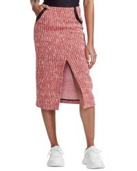Maje Jivor Tweed Pencil Skirt
