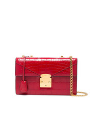 Stalvey Cerise Red 25 Alligator Shoulder Bag