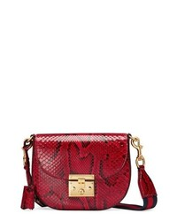 Gucci Medium Padlock Genuine Python Shoulder Bag