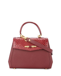 Rula Galayini Mini Amelie Python Embossed Bag