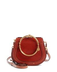 Chloé Small Nile Bracelet Snake Embossed Leather Crossbody Bag
