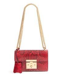 Gucci Small Padlock Genuine Python Shoulder Bag