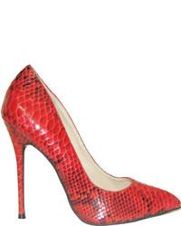 Highest heel fierce 21 pump red python snake pu high heels medium 412569