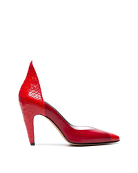 Givenchy Red 110 Python Leather Pumps
