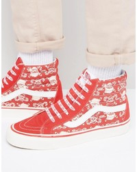 Vans 50th Anniversary Sk8 Hi 38 Sneakers In Red Va2xs1lvt