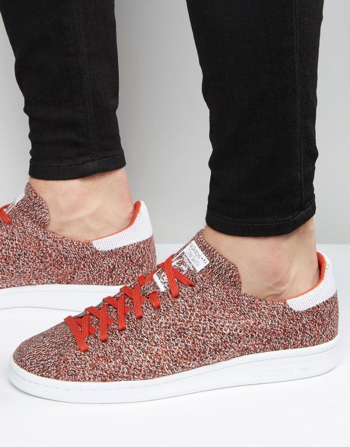 adidas originali stan smith primeknit scarpe rosse s80068 dove