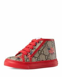 Gucci California Gg Supreme Printed High Top Sneaker Toddler