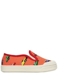 Pépé Car Print Cotton Canvas Slip On Sneakers