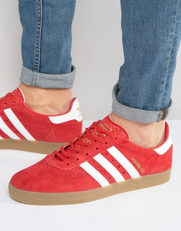 a7cf613aa45 ... adidas Originals 350 Sneakers In Red By1863 ...