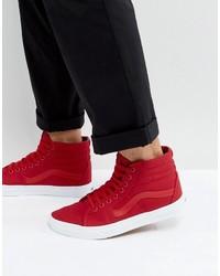 Vans Sk8 Hi Canvas Sneakers In Red Va38gemx2