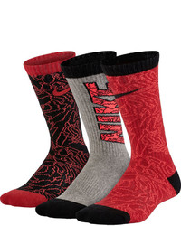 Nike 3 Pk Graphic Crew Socks Boys
