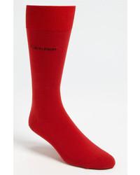 Calvin Klein Giza Socks Red One Size
