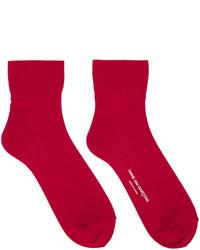 Comme des Garcons Comme Des Garons Red Short Socks