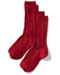 Old Navy Knee High Uniform Socks 2 Pack For Girls