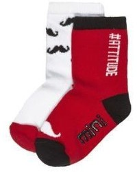 River Island Mini Boys Red Socks Multipack