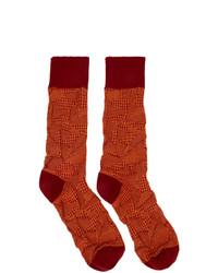 Issey Miyake Men Orange Crush Socks