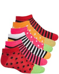 Esprit Print No Show Socks 6 Pack Below The Ankle