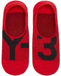 Y-3 Red Logo No Show Socks